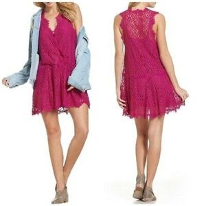Free People Heart In Two Bright Orchid Dress